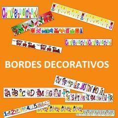 Bordes educativos para decorar trabajos, posters y carteles