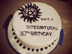 Epic Supernatural Birthday Cake by NinaStarina on DeviantArt