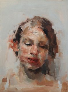 "Kai Samuels-Davis - ""The Fragile"", oil painting - I like the 'patchy' brushstrokes, and the use of warm colours."