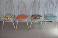 Upcycled Ercol Dining Chairs - The Consortium, Vintage Furniture and stockists of the brilliant Annie Sloan Chalk Paint Vintage Dining Chairs, Upscale Furniture, Upholstered Dining Chairs, Handmade Home, Furniture Rehab, Dining Table Chairs, Vintage Furniture, Ercol Chair, Home Decor Furniture