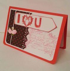 Valentinskarte I Love You von POMMPLA auf DaWanda.com