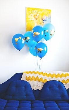 Earth decal balloons