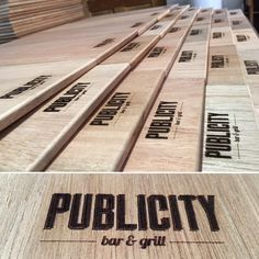 Laser engraved cutting boards for corporate or as personalised gifts.