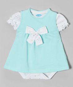 Another great find on #zulily! bon bébé Sky Bow French Terry Jumper & Star Bodysuit - Infant by bon bébé #zulilyfinds