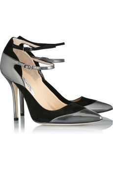 ee300f7b2b1 Oscar de la Renta Metallic Polished-Leather and Suede Pumps for Fall 2013  Beautiful Shoes