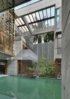 Jaw-dropping interior pool from a home in Dhaka, Bangladesh.