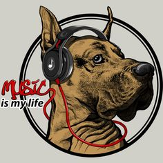 Music is my life is a T Shirt designed by satria to illustrate your life and is available at Design By Humans