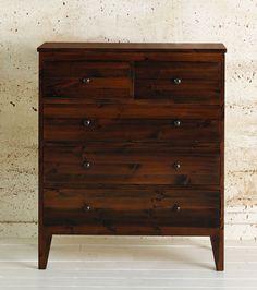 Warren Evans dark wood chest of drawers