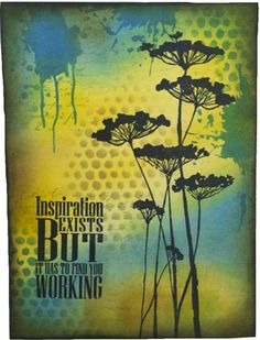 Marjie Kemper art journal - Inspiration Exists using Paper Artsy and Donna Downey stamps and Tim Holtz and Ranger inks; May 2015