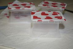 Mommy Made: {V-DAY Project # 4} Decoupaged Containers