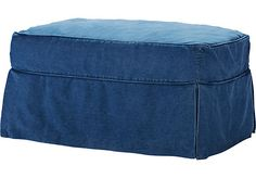 Shop for a Cindy Crawford Home Beachside Blue Denim Ottoman at Rooms To Go. Find Ottomans that will look great in your home and complement the rest of your furniture.