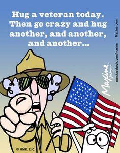 Hug A Veteran <3