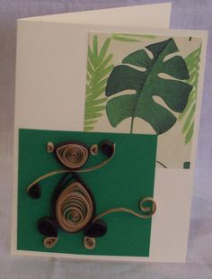 Quilled Monkey Card. Find me on Facebook and Etsy. Kate's Paper Crafts