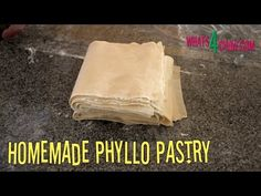 How to Make Perfect Filo / Fillo / Phyllo Pastry the Easy Way! How to Make Perfect Filo / Fillo / Phyllo Pastry the Easy Way! Phyllo Dough Recipes, Pastry Recipes, Cooking Recipes, Empanadas, Filo Pastry, Choux Pastry, Shortcrust Pastry, Phyllo Cups, Greek Recipes