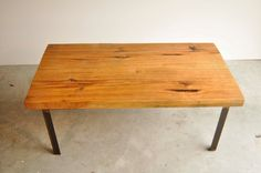 Hickory and rusted patina metal coffee table The by DohlerDesigns, $398.00