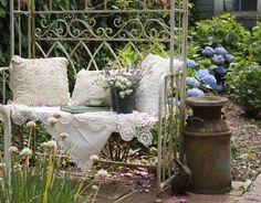 A cozy read in the garden....
