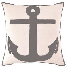 Pine Cone Hill Fresh American Admiral Graphite Indoor/Outdoor Decorative Pillow
