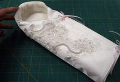 Free pattern for the Angel Cocoon, NICU-nurse tested for the tiniest babes who can't be dressed in angel gowns
