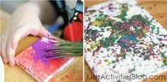 Try painting with pine needles!