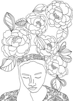Free Adult Coloring Book Pages by artist Rebecca McFarland