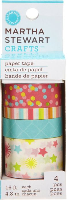 Martha Stewart makes some lovely and surprisingly inexpensive washi tapes.