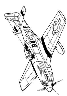 coloring page WWII Aircrafts on Kids-n-Fun. Coloring pages of WWII Aircrafts on Kids-n-Fun. More than coloring pages. At Kids-n-Fun you will always find the nicest coloring pages first! Airplane Coloring Pages, Coloring Pages For Boys, Coloring Book Pages, Airplane Drawing, Aviation Art, Military Art, World War Two, Line Art, Wwii