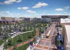 """A glance at the Vikings' """"Downtown East Stadium"""" conceptual images. Minnesota Vikings Stadium, Minneapolis Sculpture Garden, Minneapolis City, What Is Miss, Sports Stadium, Football Stadiums, The Good Place, The Neighbourhood, Dolores Park"""