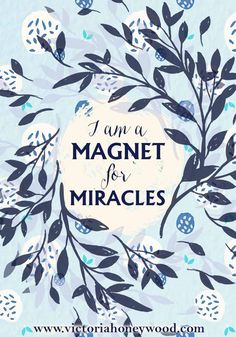 Positive Monday - attract miracles - Victoria Honeywood Good Notes, Positive Affirmations, Attraction, Victoria, Positivity, Writing, Positive Reinforcement, A Letter, Positive Thoughts
