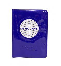 Funda Pasaporte Panam retro azul