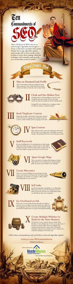 The 10 Commandments Of #SEO According to Google