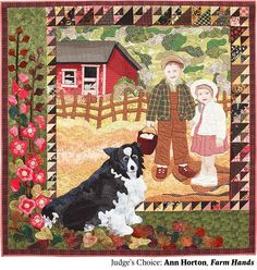 Farm Hands by Ann Horton.  Judge's Choice, 2014 Northwest Quilting Expo.