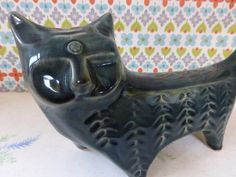 a very collectable and very gorgeous Lotus Pottery cat from Emrys Vintage £45.00 plus p&p