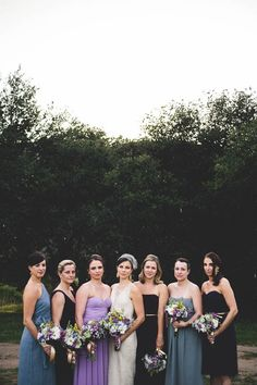 Mismatched purple bridesmaid style | Kelci Alane Photography