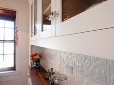 Kitchen - Tin Tile Backsplash by pixonomy, via Flickr