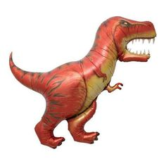 """Jumbo Dinosaur T-Rex Balloons. 4 different dinosaur shapes available. They float with helium! Qty: 1 Size: 47"""" inch Balloons are shipped un-inflated. You can blow them up by mouth or fill them with he"""