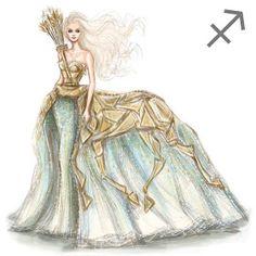 Zodiac Haute Couture Exquisite Fashion Drawings Sagittarius by Shamekh Bluwi Zodiac Art, 12 Zodiac, Astrology Zodiac, Zodiac Signs, Fashion Illustration Sketches, Fashion Sketches, Art Sketches, Art Drawings, Illustrations