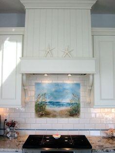 beach backsplash | Path to the Beach Backsplash beach-style-kitchen