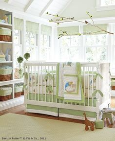 Peter Rabbit set from PB kids. I'm pretty sure I had a Peter Rabbit crib set when I was a baby.