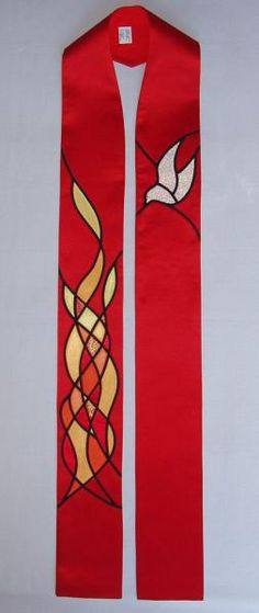 stained glass applique has so much that could be used on stoles.
