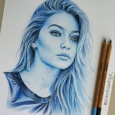 Repost from @alexdrawings_  @gigihadid finished  please tag her!  via http://instagram.com/ladyterezie