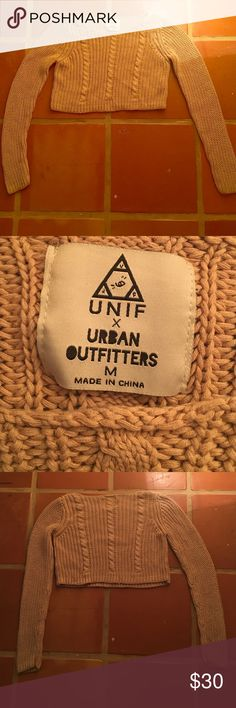 Urban Outfitters Sweater Crop Top Never worn crop too sweater. Hits right above the midriff. Smoke free and pet free home Urban Outfitters Sweaters Crew & Scoop Necks