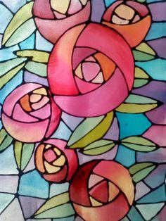 Pintura en seda ll mabel ruiz. Watercolor Art Lessons, Watercolor Art Diy, Watercolor Art Paintings, Fabric Painting, Fabric Art, Stained Glass Quilt, Stained Glass Patterns, Shibori, Silk Art