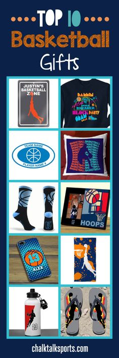 Top 10 basketball gift ideas for guys! Perfect gift ideas for holidays, special occasions, and end of season gifts! These products are made-to-order and can be personalized with your team and basketball player's info! Plenty of custom products to choose from at ChalkTalkSPORTS.com!