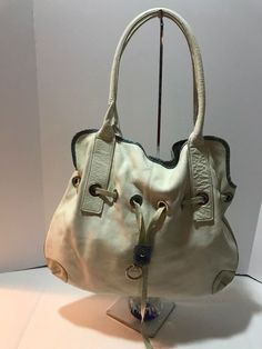 eac816b5f2e8c0 Details about Claudia Firenze White Leather Shoulder Bag Made in Italy new  with tag