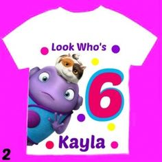Home Birthday Girl Shirt Personalized whit Name and Age