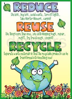 Made using clip art from DJ Inker's Kidoodlez Science & Math collection. Made using clip art from DJ Inker's Kidoodlez Science & Math collection. Earth Day Projects, Earth Day Crafts, Math Clipart, Science Clipart, Earth Day Posters, Earth Poster, Dj Inkers, Diy Recycling, Save Environment