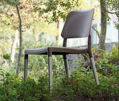 The outdoor version of the Belloch chair, design by La Granja for Fambuena has aluminium legs.  Love the mix of materials!