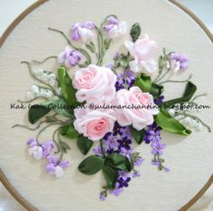 *RIBBON ART ~ embroidery