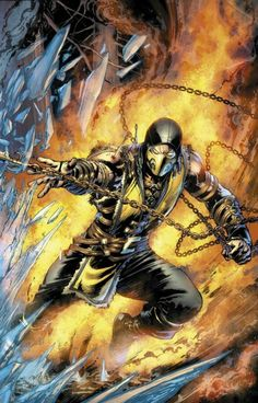Scorpion Mortal Kombat Once a member of the Shirai-Ryu clan of ninjas, Hanzo Hasashi a.k.a. Scorpion was killed by the Elder Sub-Zero in battle while his whole family and clan were slaughtered by the menacing sorcerer: Quan Chi. Scorpion returned, but as a ninja spectre. Resurrected and fooled by Quan Chi, he is now a warrior obsessed with vengeance, and blames Sub-Zero for the death of his family and clan.