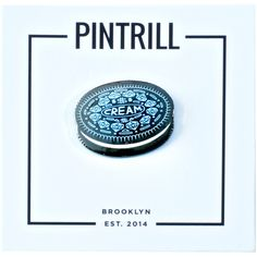 Pintrill C.R.E.A.M. Pin ($12) ❤ liked on Polyvore featuring jewelry, brooches, pin jewelry, cream jewelry and pin brooch